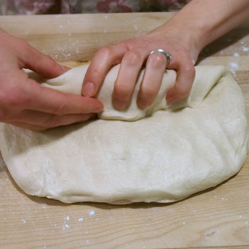 Roll dough into a cylinder.