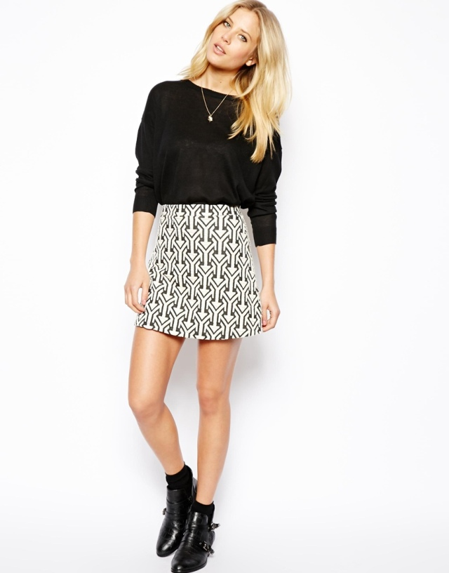 Arrow Print Skirt by ASOS