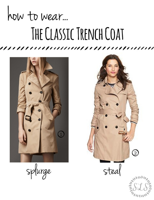 How to Wear ~ The Classic Trench Coat