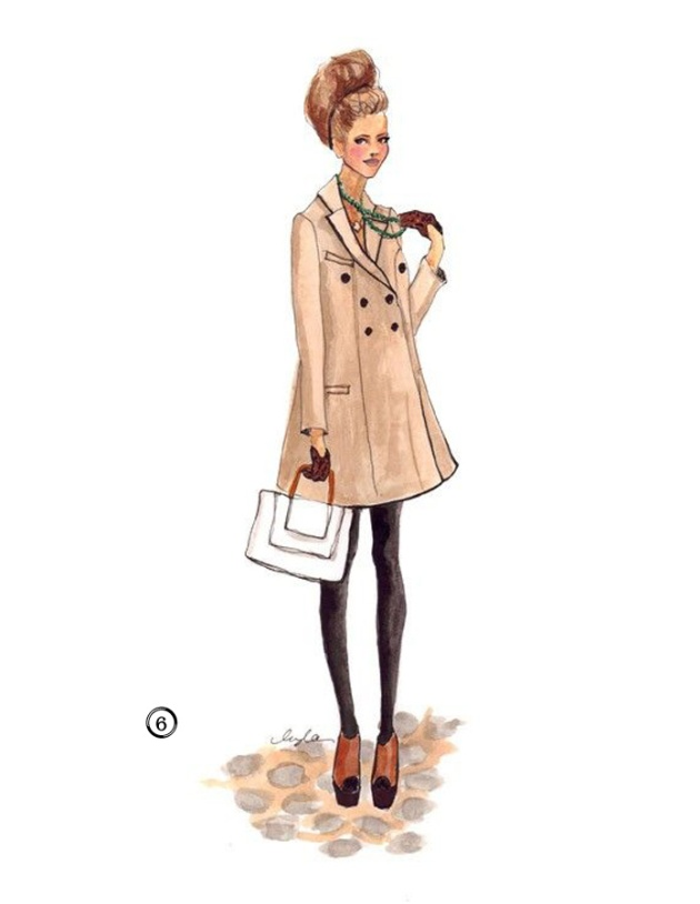 Lady in a Trench Coat Illustration by Inslee Haynes