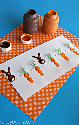 Fingerprint Carrot & Bunny Painting