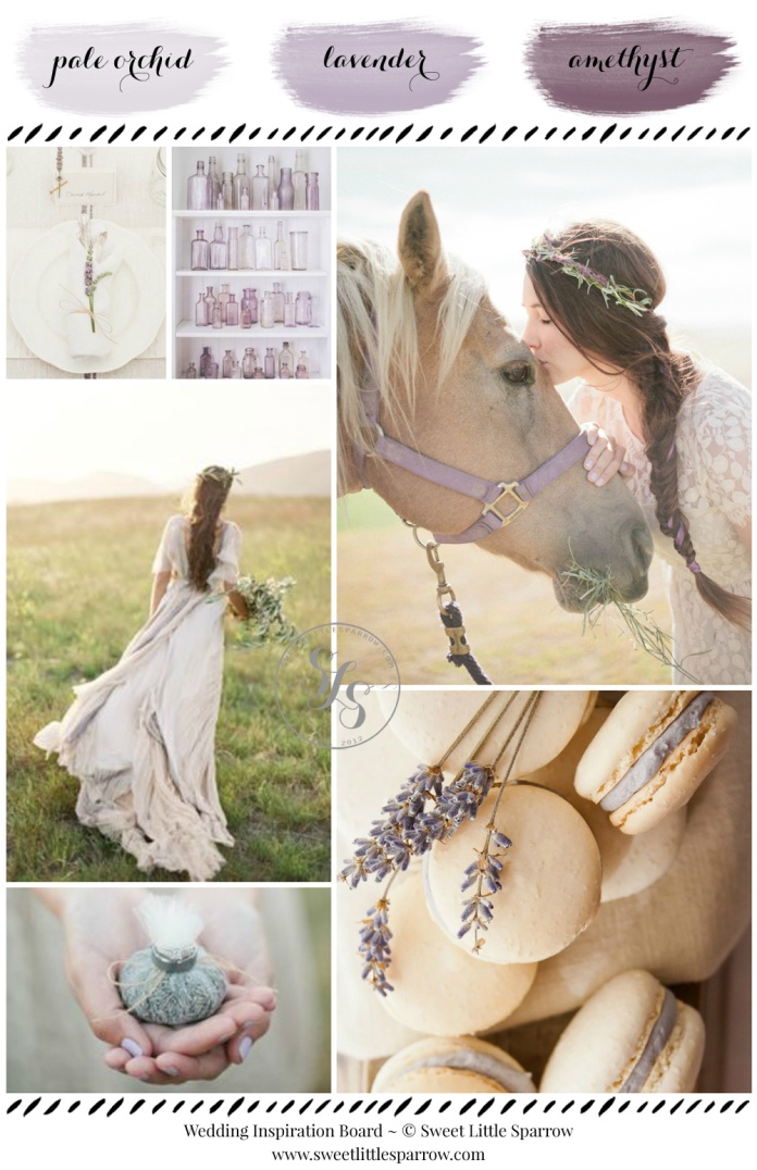 Wedding Inspiration Board - Pale Orchid, Lavender & Amethyst