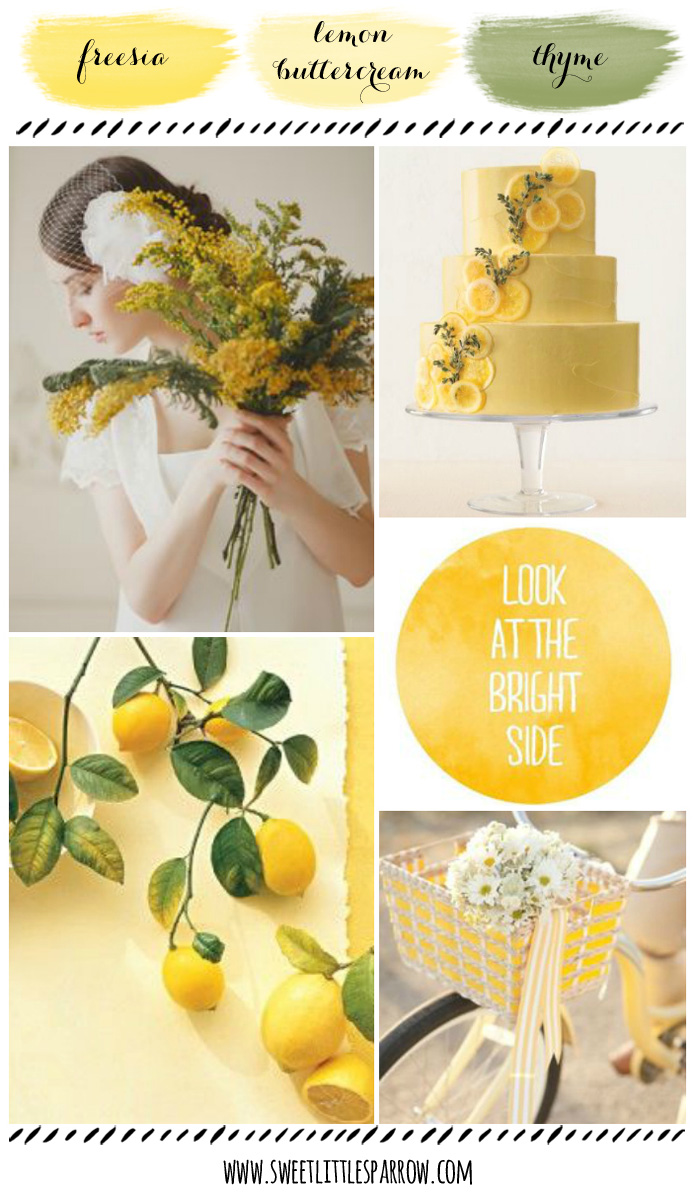 Freesia, Lemon Buttercream, & Thyme Wedding Inspiration Board