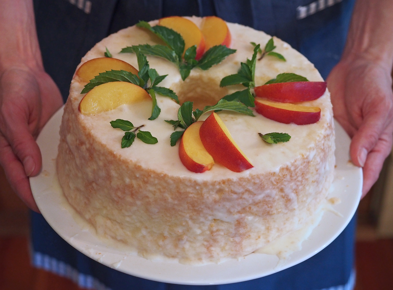Recipe} Chiffon Cake with Lemon Glaze & Nectarines - Growing Some ...