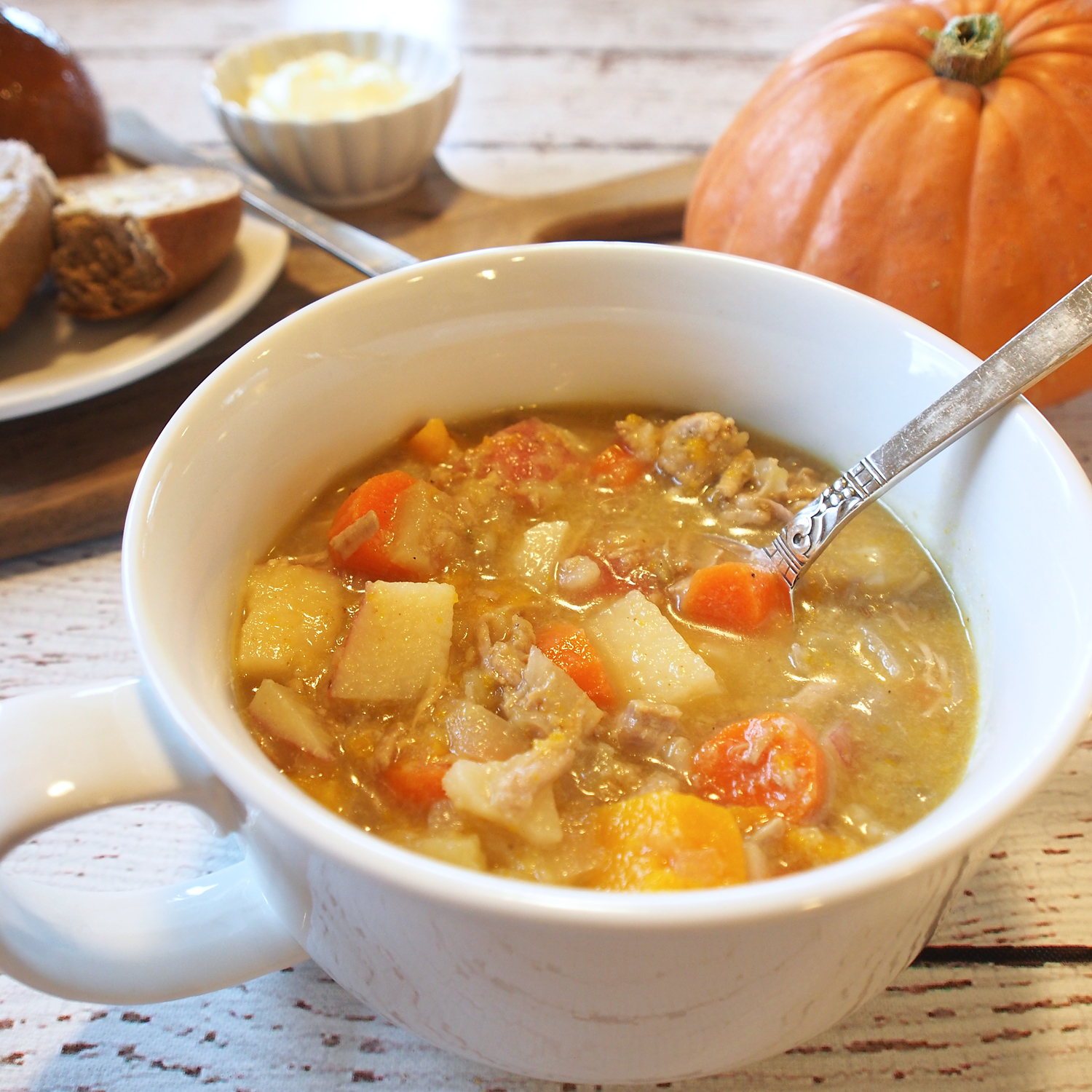 Recipe} Pork, Pumpkin & Apple Cider Stew | Sweet Little Sparrow