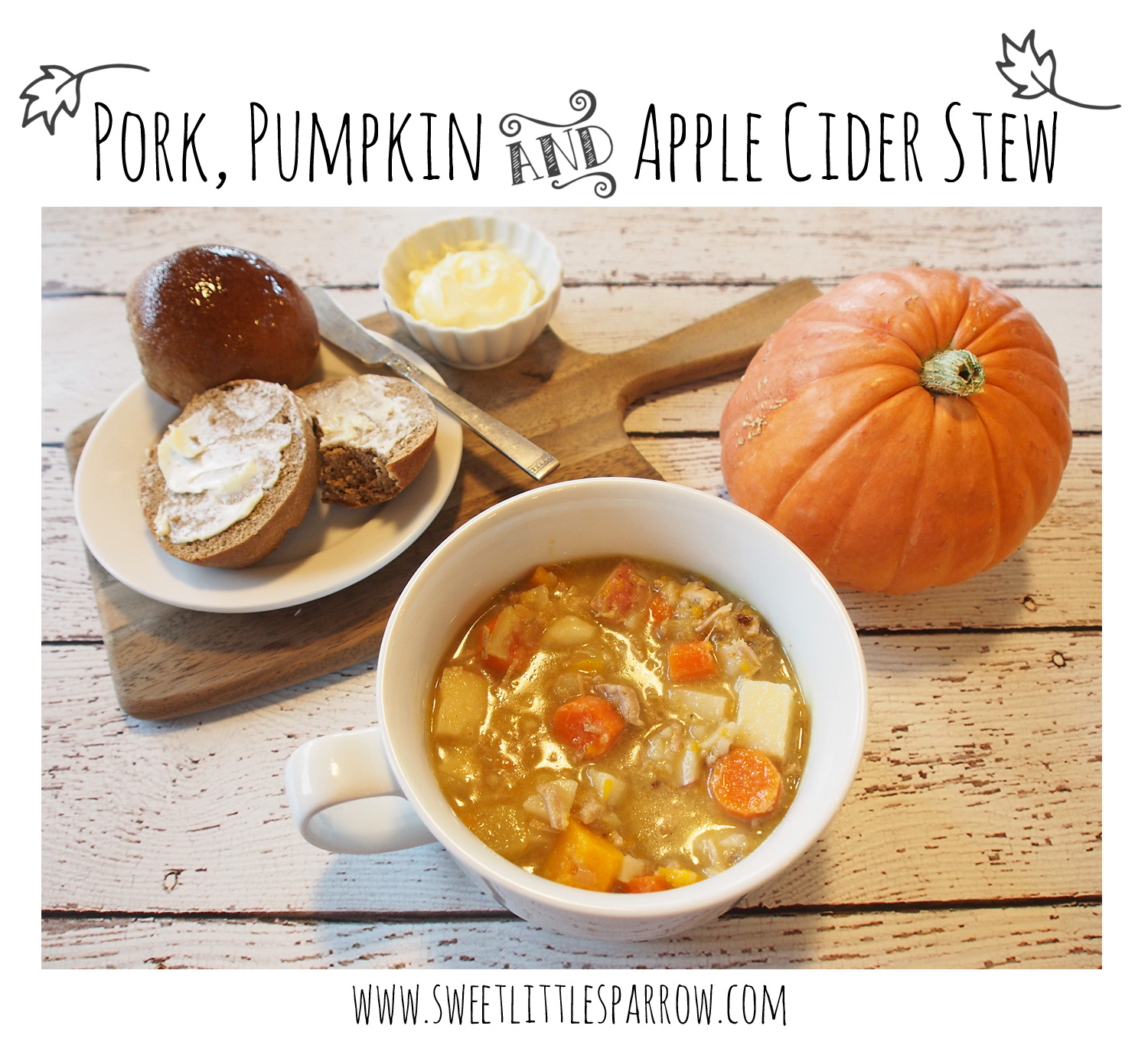 Recipe} Pork, Pumpkin & Apple Cider Stew