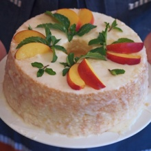 {Recipe} Chiffon Cake with Lemon Glaze & Nectarines