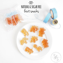 {Kitchen DIY} Make Your Own Natural & Sugar Free Fruit Snacks