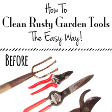 {Garden} How To Clean Rusty Garden Tools – The Easy Way!