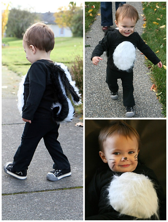 {Kid Stuff} DIY Halloween Costume – Little Stinker (Skunk)