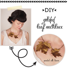 {DIY Fashion} Make Your Own Gilded Leaf Necklace
