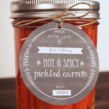 {Recipe} Spicy Pickled Carrots & Free Printable Chalkboard Tags