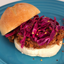 {Recipe} Pulled Pork Sandwiches with Tangy Red Cabbage Slaw