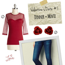 {Outfit Inspiration} Valentine's Date #1 – Dinner and a Movie