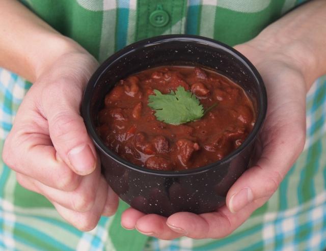 {Recipe} Three Bean Chili with Dark Chocolate & Walnuts