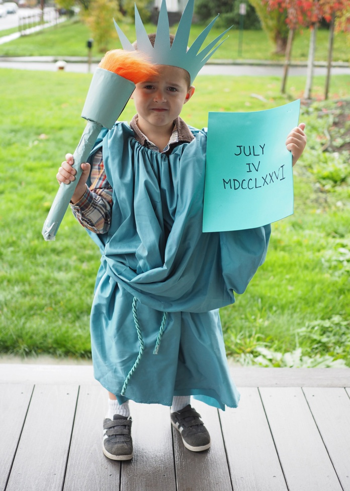 {DIY Halloween Costume} Statue of Liberty
